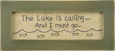 Stitchery - Lake Calling | $18.40 www.lakerabuntrading.com