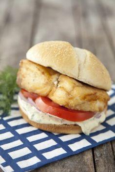 Fried Halibut Sandwich Recipe — Pauladeen.com