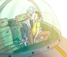 Rick and Morty Art. Ok can be very strange but I reeeeaaaallly ship them