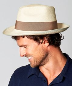 Natural Straw Fedora Trilby Panama Hat  Rome  FREE by VanEastwood