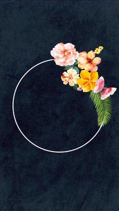 original designs by Sabrina Witteck Instagram Story Template, Instagram Story Ideas, Flower Frame, My Flower, Wedding Invitation Background, Instagram Background, Magic Hair, Instagram Logo, Rose Wallpaper