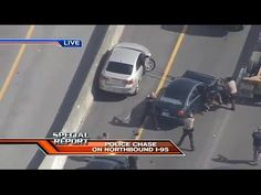 WSVN Breaking News - Police Chase In Broward County USA - HELICOPTER Pur...