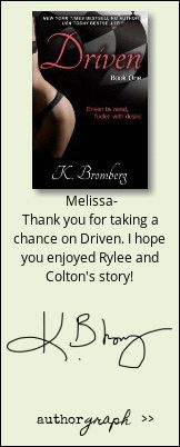 """Authorgraph from K. Bromberg for """"Driven (The Driven Series Book 1)"""""""