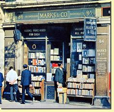 Charing Cross Road, London, Marks & Co. An excellent 1987 movie stars Anne Bancroft as American writer Helene Hanff and Anthony Hopkins as Frank Doel, employee of Marks & Co. I Love Books, Good Books, Books To Read, Anne Bancroft, Agatha Christie, Sir Anthony Hopkins, Old London, Vintage London, Library Books