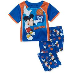 Disney Mickey Baby Toddler Boy Short Sleeve Pajama 2-Piece Set