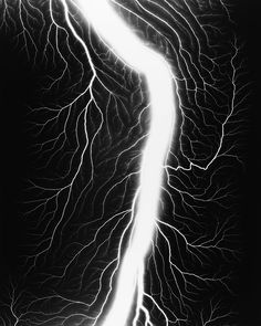 Hiroshi Sugimoto, Lightning Fields 236 (Gelatin silver print), 2009.