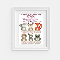 Birth announcement cross stitch pattern New Baby Girl