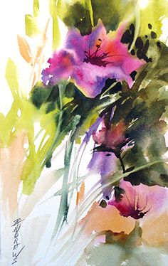 Watercolor Painting - Southern Beauties by Rae Andrews Abstract Watercolor Art, Watercolor Artists, Abstract Flowers, Watercolor Landscape, Watercolor Flowers, Watercolor Portraits, Abstract Paintings, Painting Art, Watercolor Pictures
