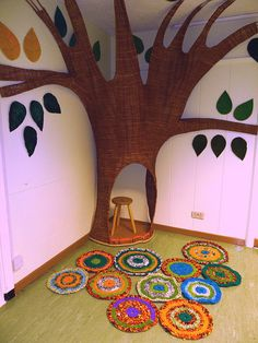 Even if you can't have live plants in your room, create one. A free form tree…