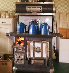 Oh, man.  Cast iron wood fired kitchen stove.  I would never survive off the grid but I'd sure eat well trying.