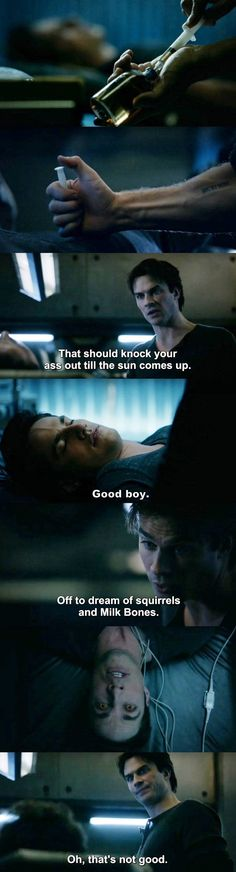 The Vampire Diaries TVD 7X14 - Damon and Tyler