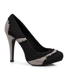 Black Muerta Pump by Ellie Shoes #zulily #zulilyfinds