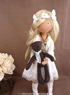 Коллекционные куклы ручной работы. Ярмарка Мастеров - ручная работа текстильная кукла Sisi. Handmade.