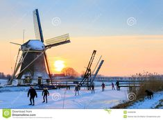 dutch-windmill-ice-skating-beautiful-typical-scene-family-home-sunset-past-old-near-abcoude-netherlands-54509238.jpg 1,300×957 pixels