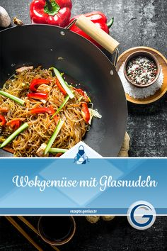 Wok vegetables with glass noodles Genius recipe world Easy Cooking, Healthy Cooking, Cooking Tips, Woks, Cooking For Beginners, Healthy Diet Tips, Christmas Cooking, How To Cook Pasta, Crockpot Recipes
