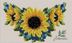 Products from beads Seed Bead Patterns, Peyote Patterns, Beading Patterns, Flower Patterns, Stitch Patterns, Beaded Banners, Native Beadwork, Cross Stitch Rose, Beaded Ornaments