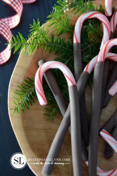 Chocolate Covered Candy Canes - Quick and Easy Chocolate Dipped Candy Canes