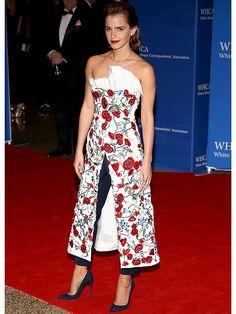 El polémico look de Emma Watson para una gala con Barack Obama - Imagen 1