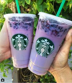 "Starbucks ""Secret"" Purple Drink .Passion Fruit Iced Tea with Soy Milk, Vanilla Syrup and Blackberries."