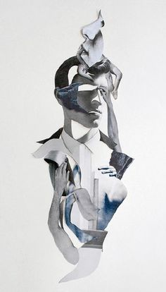 Ernesto Artillo (Spain), collage. His interesting use of body parts and cut outs to create unique shapes and forms for future inquiry is very inspiring