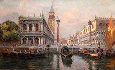 Художник Antonio Maria de Reyna Manescau. Картины с видами Венеции