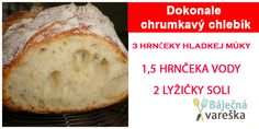 Lacný a dokonale chrumkavý chlebík – Toto je ten najlepší a najrýchlejší hrnčekový chlebík bez miesenia! Savoury Dishes, Banana Bread, Biscuits, Vegetarian, Desserts, Recipes, Hampers, Brot, Recipies