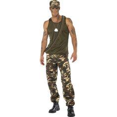 Kostium żołnierza w barwach moro. Doskonałe przebranie na imprezę mundurową