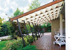 Pergole Gibus cu falduri, pergole Med 26 pavilion cu falduri pentru umbrire terase si gradina pe timpul verii. Calitate fara compromis Gibus, solutii fabuloase pentru terase si preturi excelente. http://gibus.ro/