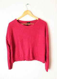 Kup mój przedmiot na #vintedpl http://www.vinted.pl/damska-odziez/bluzy-i-swetry-inne/12605296-sweter-malinowy-hm-divided-38-l-oversize