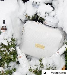 The snow  today made me think of this picture from @vivierpharma  My current favorite VivierSkin Signature Anti-Aging Program. A collection of 7 star products with all the essentials for a complete skin care regimen.