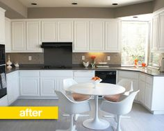 Kitchen Before & After: The Power of Paint (and floor, and backsplash, and in our case, a counter.)