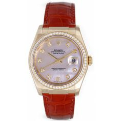 Rolex Datejust 18k Yellow Gold Diamonds Automatic Winding Mother of Pearl 116188 Watch - Watches
