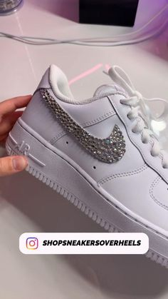 Nike Shoes Air Force, Handmade Shop, Handmade Items, Love To Shop, Amazing Gifts, Great Gifts, Crystal Rhinestone, Creations, Small Shops