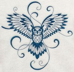 Inky Owl in flight Machine Embroidery Designs at Embroidery Library! Flying Owl Tattoo, Owl Tattoo Back, Simple Owl Tattoo, Simple Owl Drawing, Owl Tattoo Wrist, Bild Tattoos, Neue Tattoos, Body Art Tattoos, Circle Tattoos