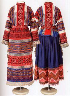 Городской костюм.  Сайт автора посвящен народным костюмам разных регионов.