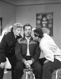 I Love Lucy production still (Lucy Has Her Eyes Examined)