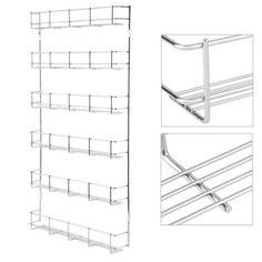 Free Shipping. Buy 6 Layers Metal Spice Rack Kitchen Door Wall Mounted Storage Shelf Multipurpose Pantry Holder Cabinet Organizer at Walmart.com