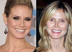 heidi klum makeup and without makeup