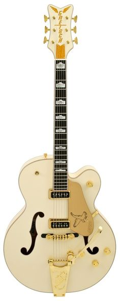 Gretsch G6136T-LDS White Falcon Vintage White with Bigsby Electric Guitar | Rainbow Guitars