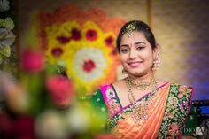 A colorful telugu grand wedding celebration that witnessed happiness - Candid photography by Amar ramesh, a contemporary wedding photographer. Beautiful Saree, Beautiful Indian Actress, Beautiful Bride, Indian Bridal Sarees, Indian Bridal Wear, Bridal Looks, Bridal Style, Indian Wedding Jewelry, Indian Jewelry