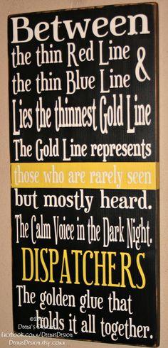 Dispatcher Sign Fire Dispatch Sign EMS Dispatch by DeenasDesign
