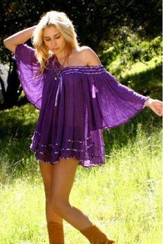 Jen's Pirate Booty Stevie V-Neck Top in Purple