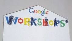 """Richard Hay from Google shared a picture of a funny looking sign in Google named """"Google Workshops.""""   He shared the picture on Google+.  From the looks of it, it implies this is one of those classic"""