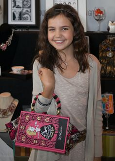 """Bailee Madison of """"Wizards of Waverly Place"""" with The Write Stuff Design."""