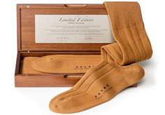 Most expensive socks.  $1200 for a very limited series of 10 pairs, made from the rarest and most expensive wool in the world – Vicuna wool.