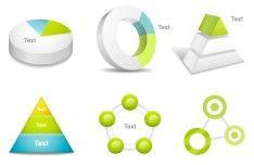 Clean Business Data Statistic Design Elements Vector 02