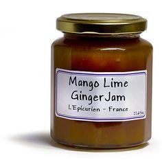 French Jam - L'Epicurien Mango Lime Ginger  - 11.65 oz: $11.24