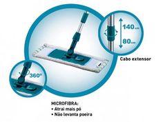 Mop Pó para Limpar, Lustrar e Encerar Pisos - Brinox Super Clean 2947/100 com as melhores condições você encontra no Magazine Raimundogarcia. Confira!