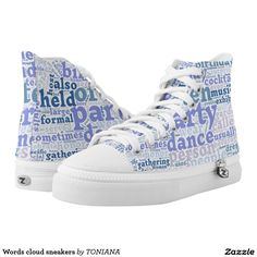 Purchase a wonderful pair of Purple sneakers & athletic shoes from Zazzle. Interchangeable covers allow you to have different shoes everyday of the week! Purple Sneakers, High Top Sneakers, Printed Shoes, Converse Chuck Taylor, High Tops, Cloud, Athletic Shoes, Comfy, Concept