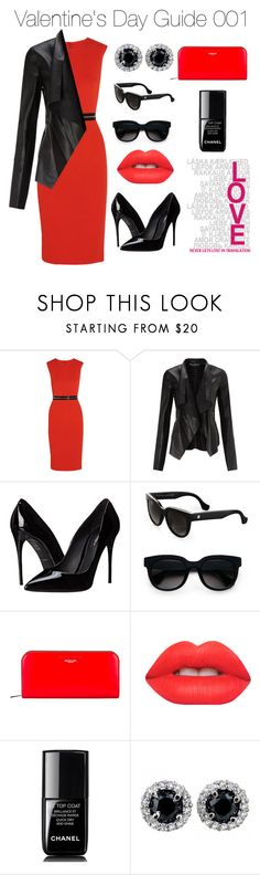 Valentine's Day Guide 001 by bienheureux on Polyvore featuring McQ by Alexander McQueen, Miss Selfridge, Dolce&Gabbana, Michael Kors, Balenciaga, Lime Crime, Chanel, women's clothing, women's fashion and women